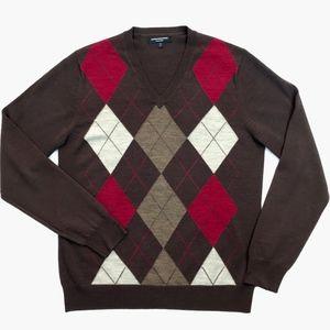 Express Design Studio Merino V-Neck Sweater | M